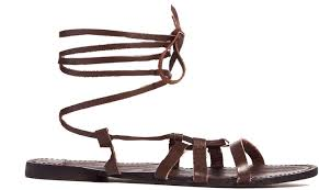 brown leather gladiator sandals london rebel leather ankle gladiator flat sandals