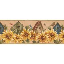 Flower Wall Paper Border Borders Youll Love Wayfair