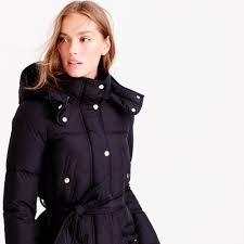 wintress belted puffer coat women s coats jackets j crew wintress belted puffer coat