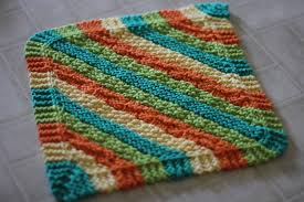 Sugar And Cream Knit Dishcloth Pattern Cool Hot Stripes Hanging Dish Towel And Dishcloth Patterns The