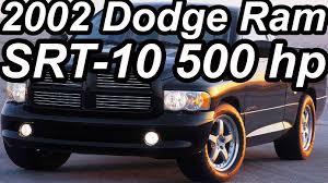 Dodge Ram SRT-10 Concept 2002 8.3 Viper V10 500 cv - YouTube