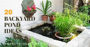 20 beautiful backyard pond ideas for