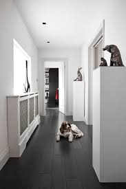 london modern vinyl flooring hall contemporary with doorway decorative objects and figurines black white