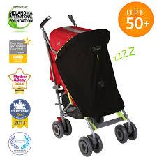 snoozeshade original universal fit baby pram sun shade sleep aid and blackout blind for strollers blocks 99 uv