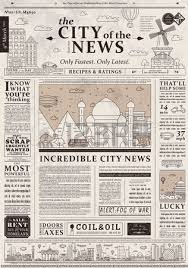 Old Fashion Newspaper Template Old Time Newspaper Template Wedding Planning Contract