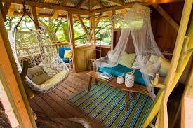 Backyardlandscapeideawithplaygroundfeatwoodendiytreehouse Diy Treehouses For Kids