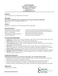 Automotive Mechanic Sample Resume Podarki Co
