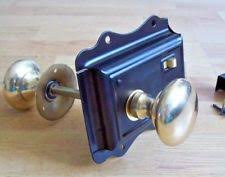 Antique door knob Towel Rack Old Victorian Style Solid Brass Black Door Rim Lock Knob Set Ebay Black Brass Antique Door Knobs Handles Ebay