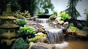 pond waterfall ideas small backyard waterfalls cool