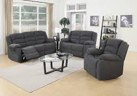 elegant com us pride furniture 3 piece grey fabric reclining sofa with and chair set