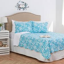 C & F Home Blue Jamaican Breeze F/Q Quilt Set