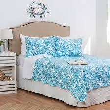 C & F Home Blue Jamaican Breeze F/Q Quilt Set