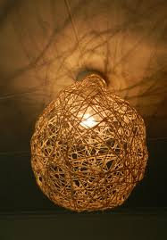 ... onto your light shade. Hang up to dry, I left it out in the sun for the  day. I love how the light peeps through all the holes at night! xo Bec