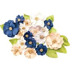 Paper Flower Suppliers Morgan Prima Marketing Georgia Blues Mulberry Paper Flowers 28 Pkg