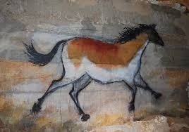details about cave painting running horse art tribal horse canvas print