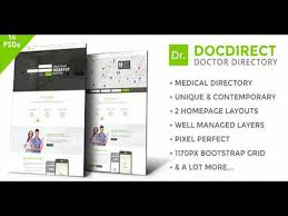 Template For Directory Docdirect Directory Psd Template For Healthcare Profession