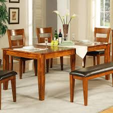 wood rectangular dining table. This Wood Dining Room Table Features A Brightly Welcoming Natural Tone Rich With Textural Rectangular
