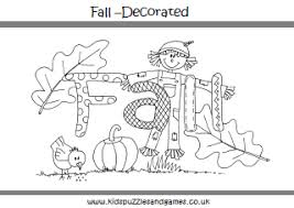 Small Picture Autumn Fall Colouring Sheets Kids Puzzles and Games