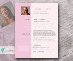 Free Word Resume Template For The Ladies Pretty In Pink Freesumes