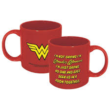 Amazon.com | ICUP 7584 DC Wonder Woman Not Saying Mug, Multicolor: Coffee  Cups & Mugs