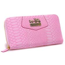 Lowest Price Coach Accordion Zip In Croc Embossed Large Pink Wallets CCM  official sale outlet