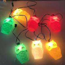 Retro Camper Party Lights Vintage Owl String Lights Rv Camping Patio Awning Party