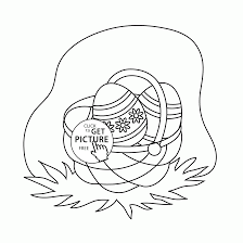 Small Picture Mini Basket Easter Eggs coloring page for kids holidays coloring
