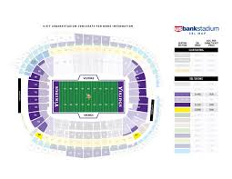 Us Bank Seating Chart Vikings Ninety Percent Of U S Bank Stadium Psls Have Been Sold