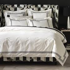 regent ink black and white duvet cover