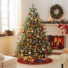 best artificial christmas trees decoration ideas prelit trees red blue  white ornaments