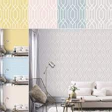 New York Geometric Wallpaper Trellis ...