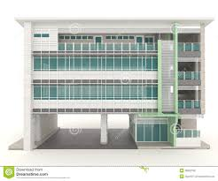exterior office design. 3D Modern Office Building Architecture Exterior Design In White
