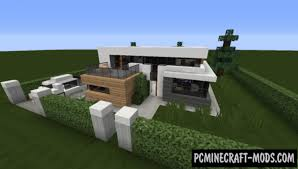 All houses in this map are mostly made of white wool with wood and lightstone used at the lighting. Small Modern House Map For Minecraft 1 17 1 16 5 Pc Java Mods