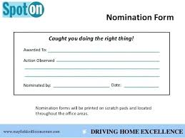 Nomination Form Template 7 Employee Recognition Nomination Form