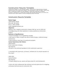 Construction Worker Resume Sample For Image Examples Resume