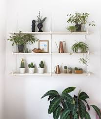 At Home with Camilla Bromann (A Beautiful Mess). Shelves With PlantsHang ...