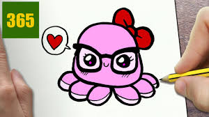 Small Picture HOW TO DRAW A OCTOPUS CUTE Easy step by step drawing lessons for
