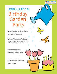 party invite examples garden party invitations lovetoknow