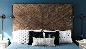 diy reclaimed wood headboard with lights designs wooden and footboard headboards anyone can build bedrooms gorgeous a chevron custom headboa