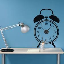 working alarm clock wall sticker