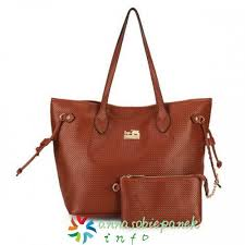 Brown Coach City Knitted Medium Totes