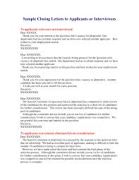 Business Letters Interview Rejection Letters Business Charts
