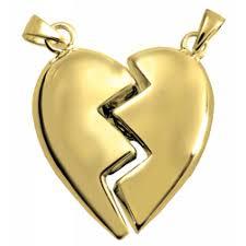 broken heart cremation jewelry