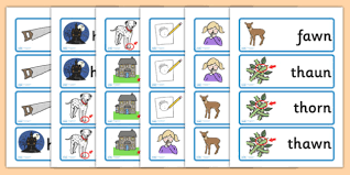 When teaching a phonics skill it's often helpful to use a key word and picture to help the students remember the sound to the letter combinations. Or Au Aw Which Is The Correct Spelling Word Cards