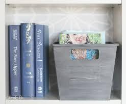 locker bin on bookcase
