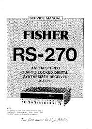 fisher rs 270 service manual schematics eeprom fisher rs 270 service manual