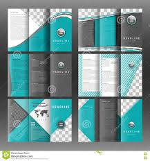 Set Of Corporate Trifold Brochure Templates Design With