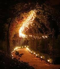 romantic lighting. lighting idea using trellis for my yard beautiful walk way in the snow or summer source romantic