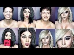 man uses only makeup to morph into kim kardashian beyoncé and many more female celebrities