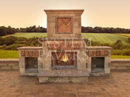 system pavers fireplace design